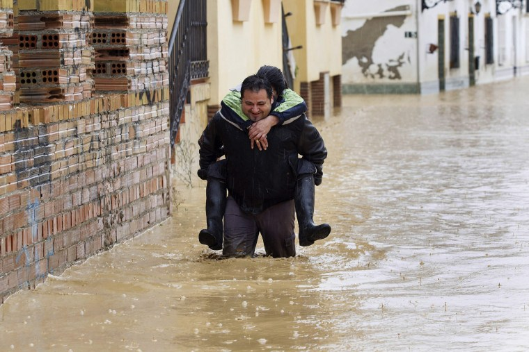 Image: Flooding in Malaga