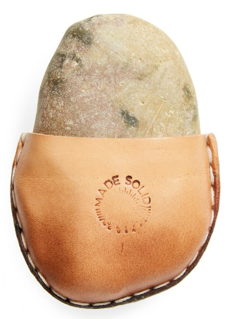 Nordstrom is selling a rock in a leather pouch for $85