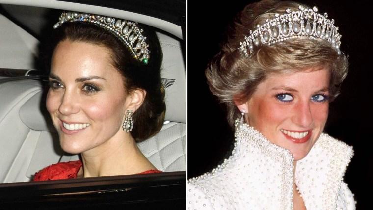 Kate Middleton / Princess Diana with tiara