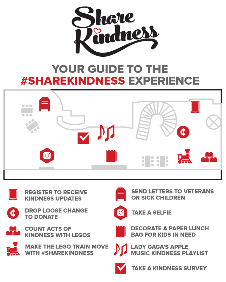 Your map to the #ShareKindness Experience at 30 Rock.