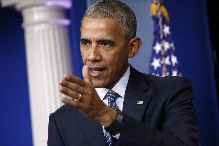 Image: US President Barack Obama hosts press conference at the White House