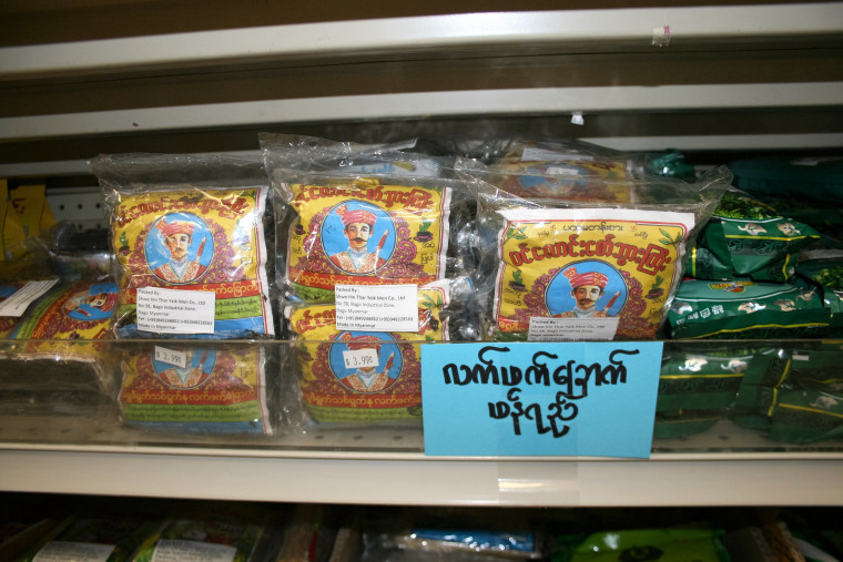 Zomi products in Hatlang's grocery store.