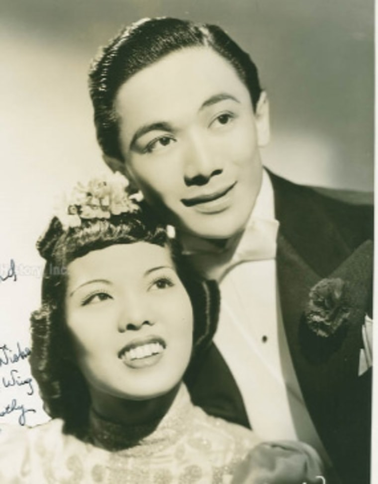 """Dorothy Toy and Paul Wing, who were once billed as the """"Chinese Fred Astaire and Ginger Rogers"""""""