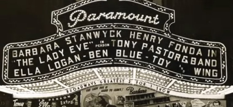 Toy and Wing's names received top billing at the Paramount Theater alongside Hollywood greats Barbara Stanwyck and Henry Fonda.