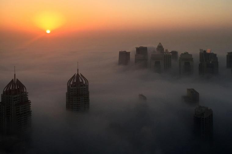 Image: TOPSHOT-UAE-WEATHER-DUBAI-FOG