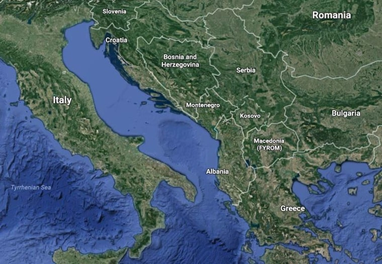 Image: A map of Eastern Europe