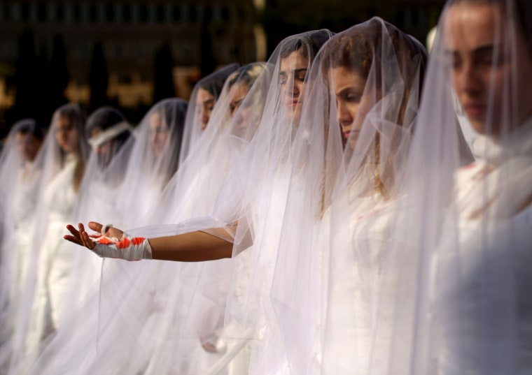 Image: BESTPIX TOPSHOT-LEBANON-LAW-DEMO-WOMEN-VIOLENCE