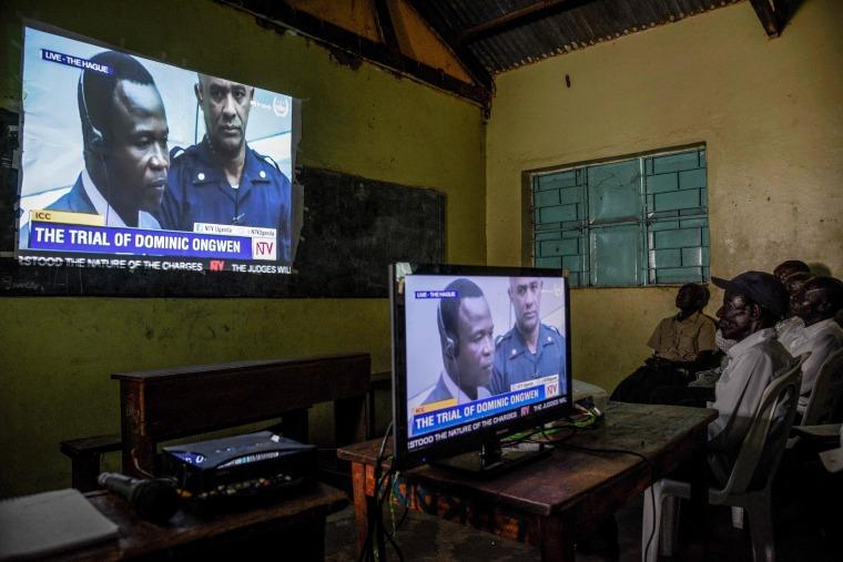 Image: TOPSHOT-UGANDA-ICC-TRIAL-WARCRIMES-ONGWEN