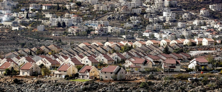 Image: A picture taken on November 17, 2016 shows a general view of houses in the settlement of Ofra in the Israeli-occupied West Ban