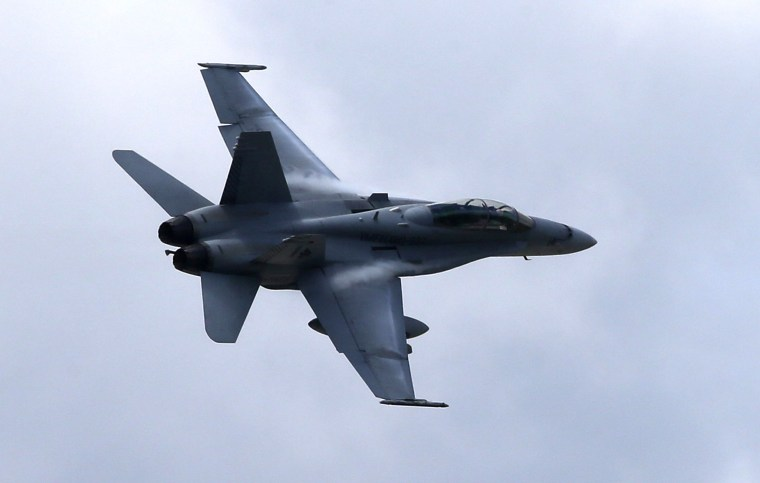 Image: A U.S. Marine F/A-18 Hornet jet