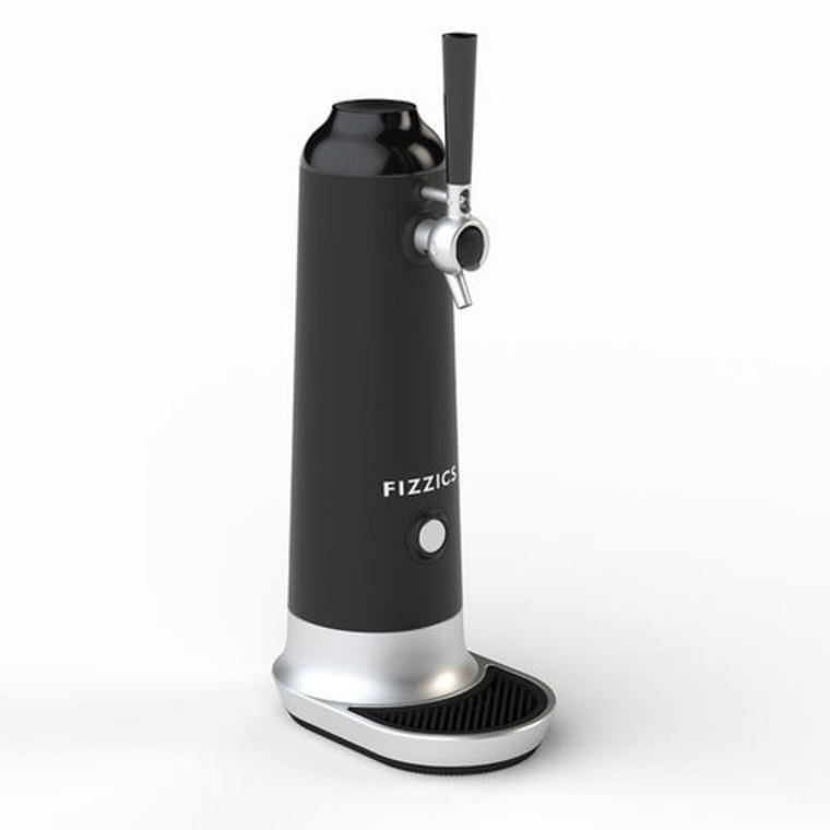 With the Fizzics tap system, you can turn any of your favorite beer bottles or cans into frothy draft beer.