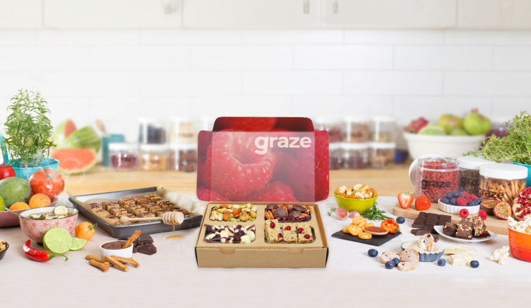 Graze will deliver healthy snacks to a relative's home, friend's house — or your own front door — all year long.