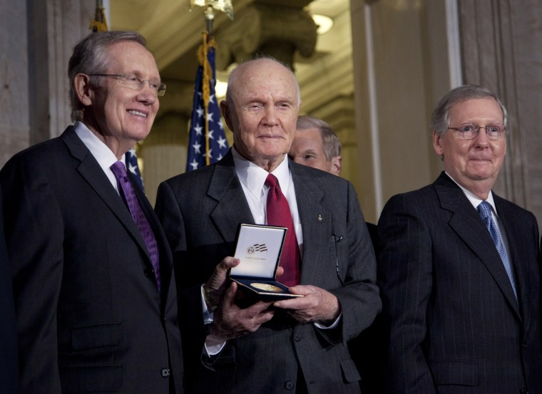 Image: Harry Reid, John Glenn, Mitch McConnell