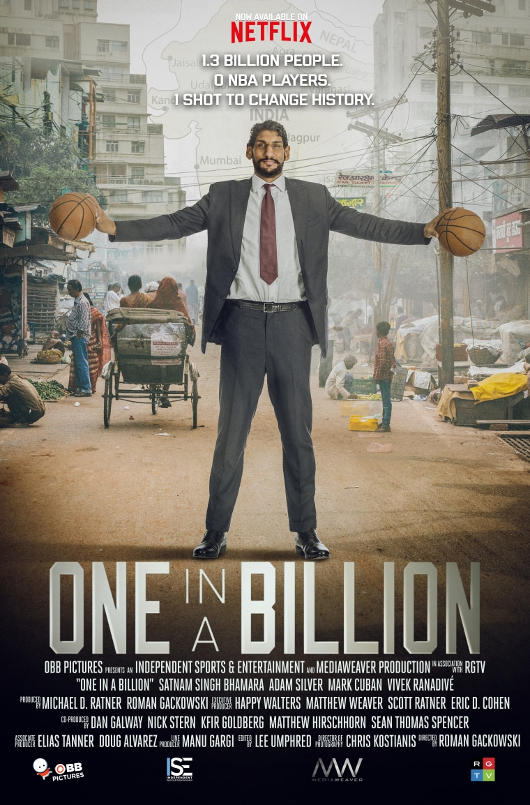 """The poster for """"One in a Billion,"""" which was released on Netflix yesterday."""
