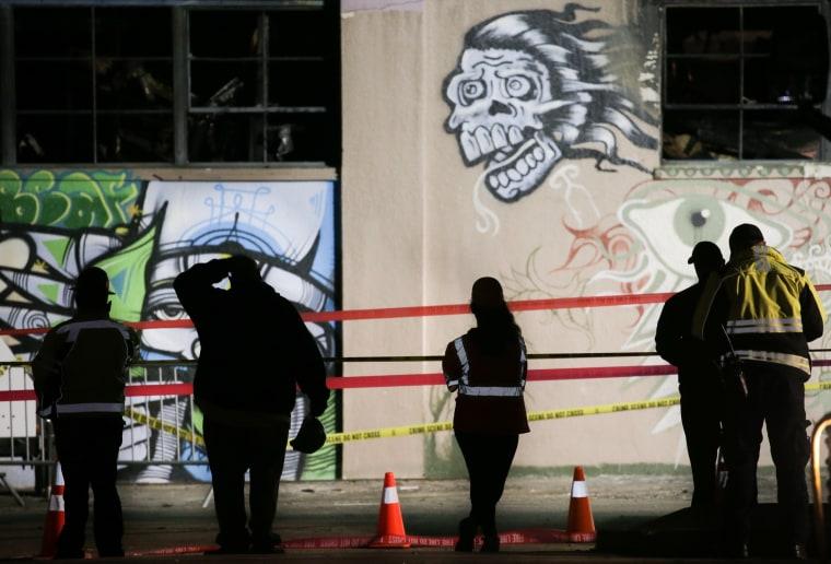 Image: Dozens Feared Dead In Oakland Warehouse Fire