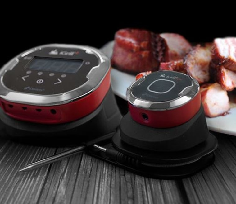 The iGrill thermometer will send an alert to your smartphone when your steaks are cooked to perfection.