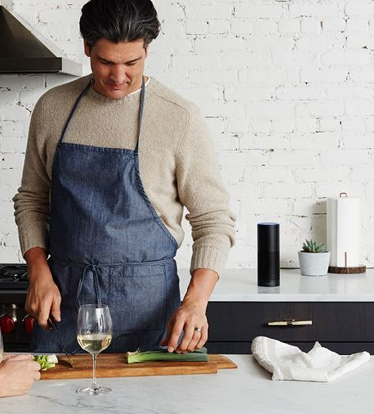 Partner Amazon's Alexa with a recipe app and the device will walk you through cooking the meal and even provide music while you stir. Or sip.