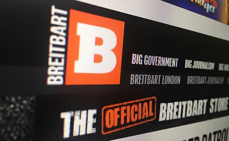 Image: Breitbart's homepage