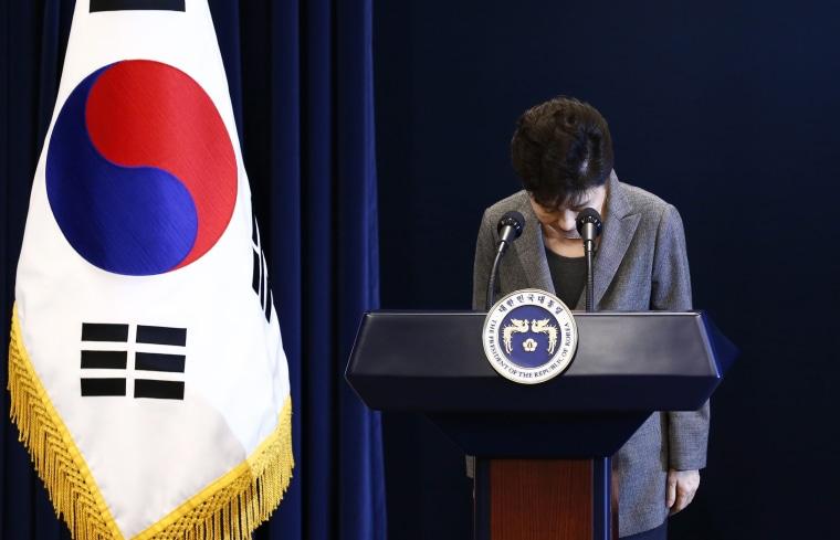 Image: South Korean President Park Geun-hye address to the Nation
