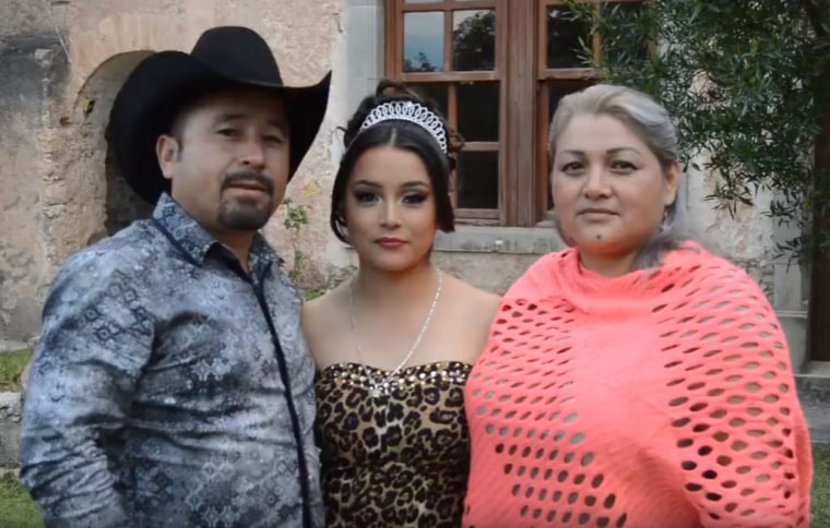 Rubi Ibarra Garcia and her parents, Crescencio and Anaelda, recorded a modest video invitation for their prospective guests to attend Rubi's quincea?era later this month that was posted online.