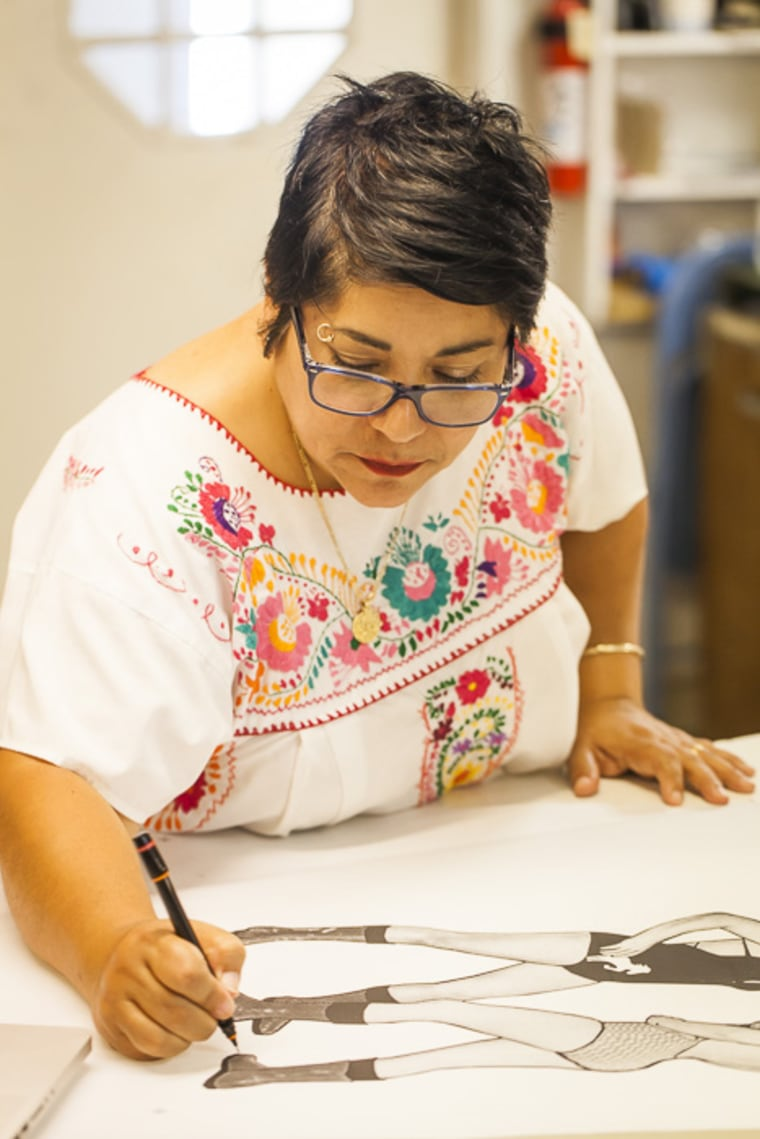 Visual artist Alma Lopez, known for her piece, Our Lady.
