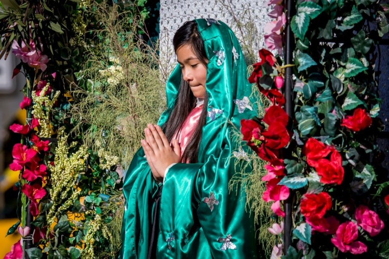Celebrant at Phoenix Our Lady of Guadalupe event, Phoenix AZ, December 2015