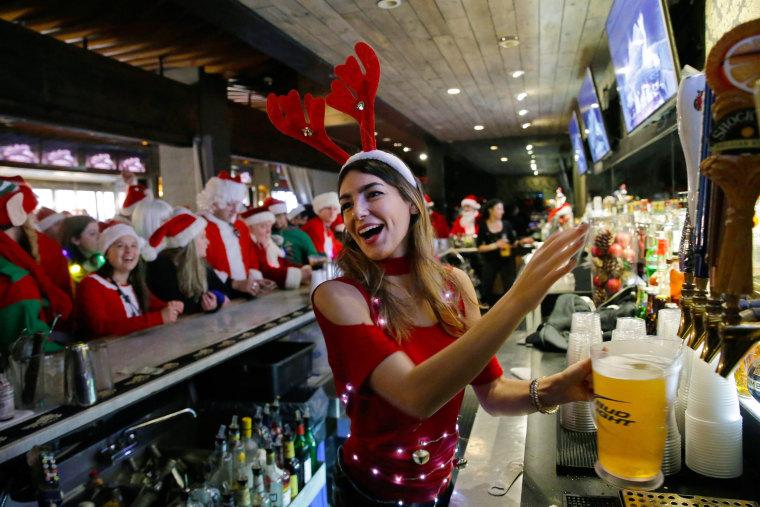 Image: Santa Con event in New York City