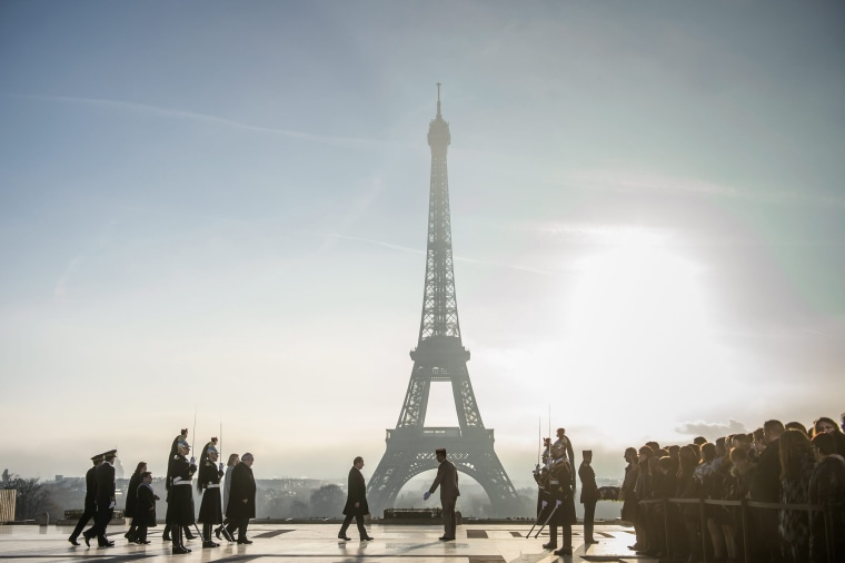 Image: Ceremony to pay tribute to disabled and sick victims of the WWII in Paris