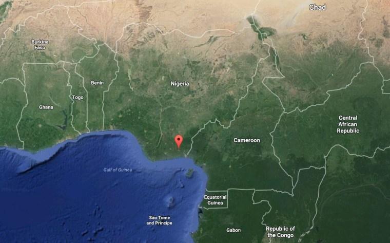 Image: Map showing Uyo, Nigeria
