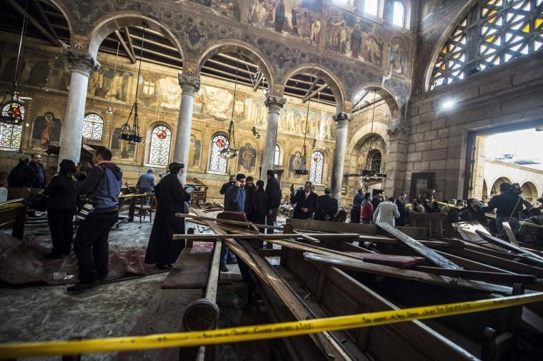 Image: EGYPT-BOMB-UNREST-BLAST-RELIGION