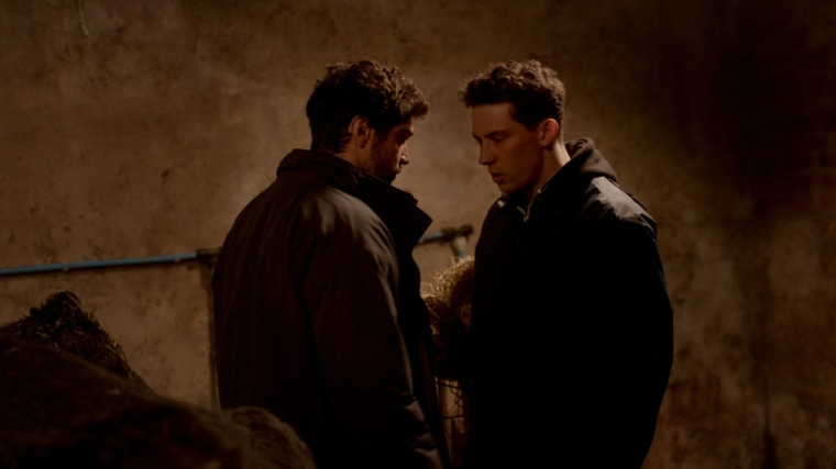 Alec Secareanu and Josh O'Connor in 'God's Own Country'