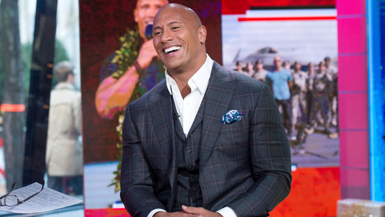 Dwayne Johnson on the Today Show, December 9, 2016.