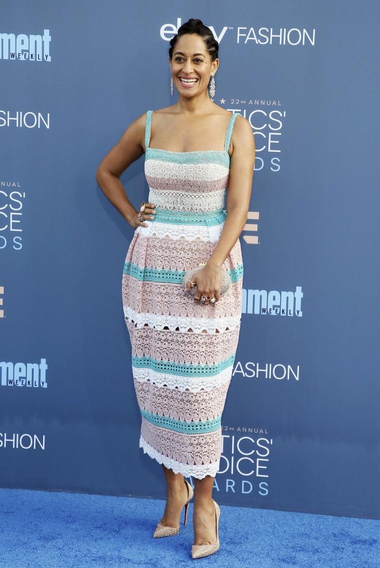 Tracee Ellis Ross arrives at the 22nd Annual Critics' Choice Awards in Santa Monica