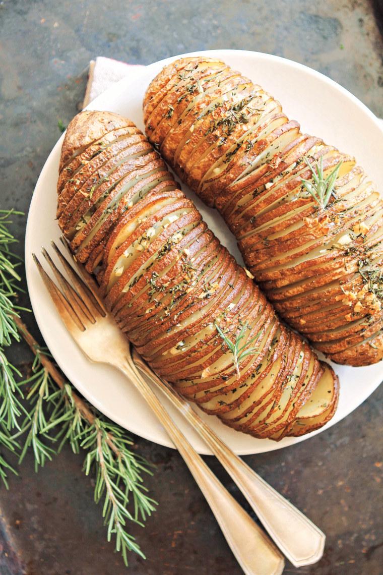 Rosemary Garlic Hasselback Potatoes recipe