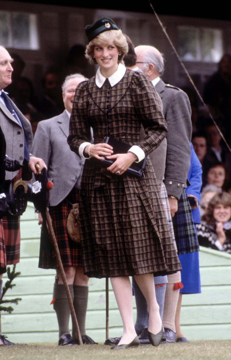 Diana Princess of Wales attends the Braemar Games