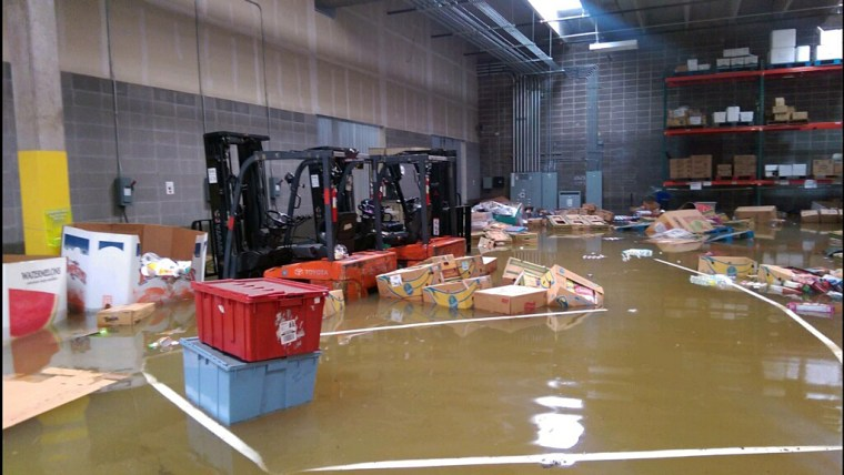 Greater Baton Rouge Food Bank after the August 2016 floods