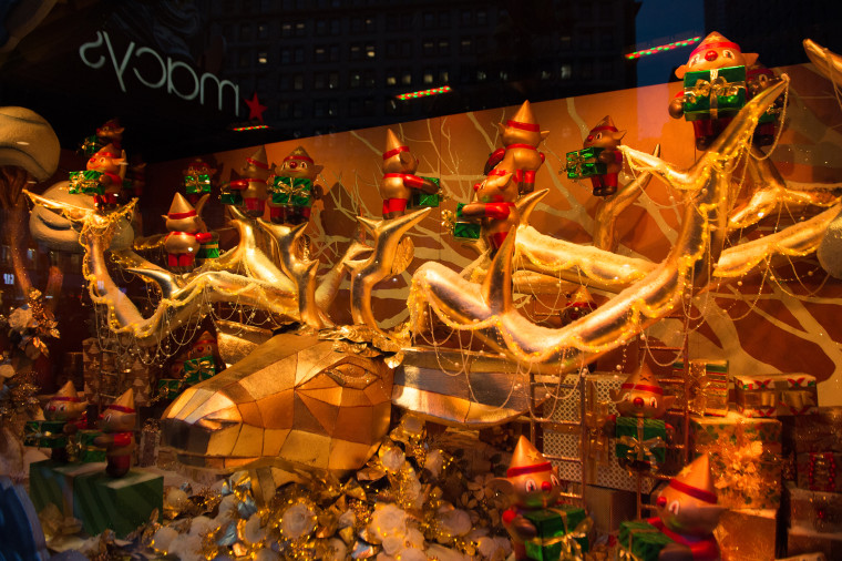 Macys department store holiday windows