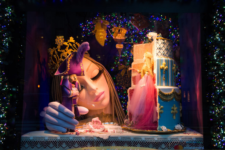 Saks Fifth Avenue department store holiday windows.