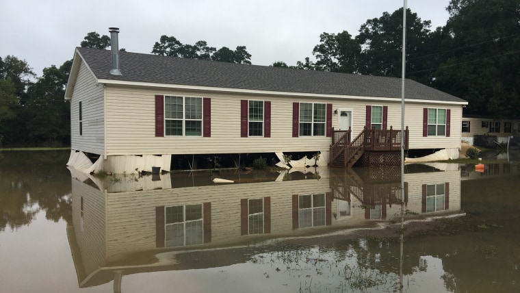 Yvonne Farwell's home after the 2016 floods in Baton Rouge