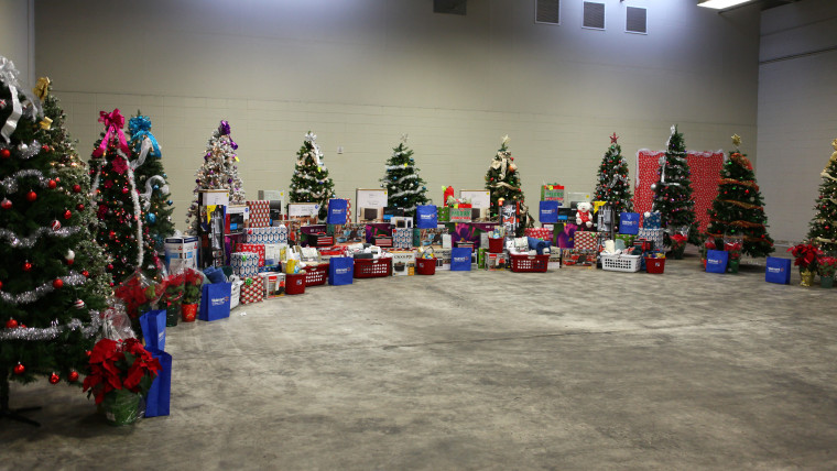 Walmart filled the Greater Baton Rouge Food Bank with gifts