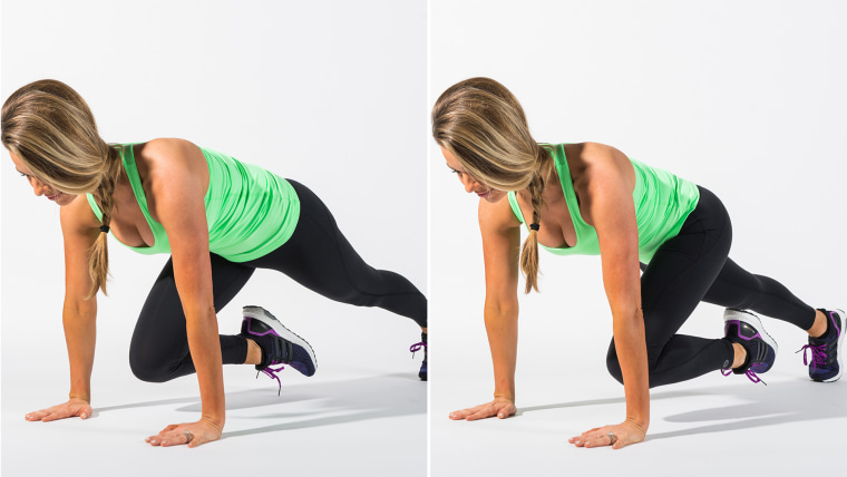 Moutain climbers exercise