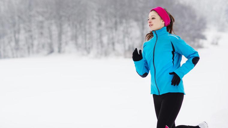 Woman jogging, running, exercising outside