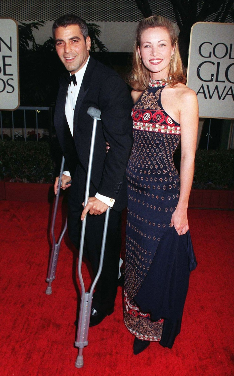 George Clooney and Celine Beladron at the 1997 Golden Globe Awards.