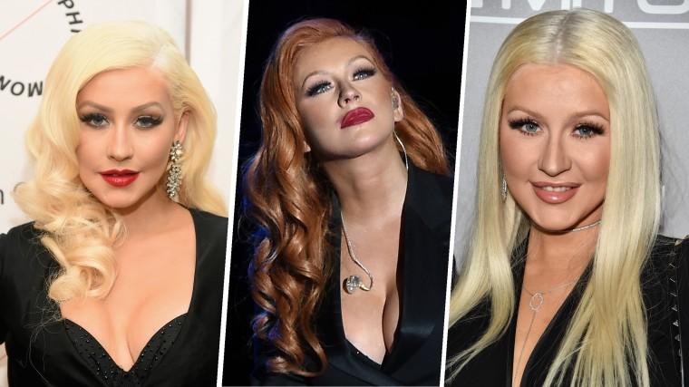 Christina Aguilera hair 2016
