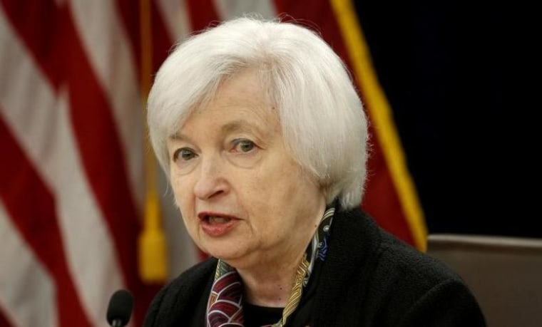 Federal Reserve Chair Janet Yellen holds a news conference in Washington