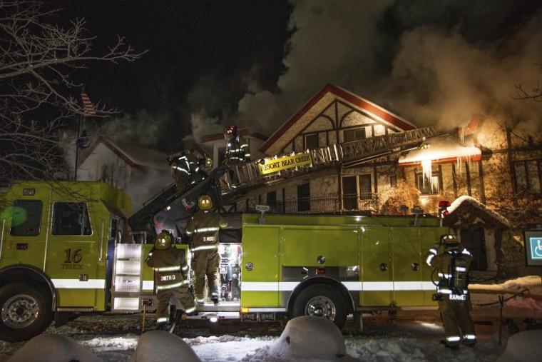 IMAGE: Boyne Highlands Resort fire
