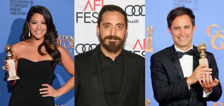 74th Annual Golden Globe nominees Gina Rodriguez, Pablo Larrain and Gael Garcia Bernal.