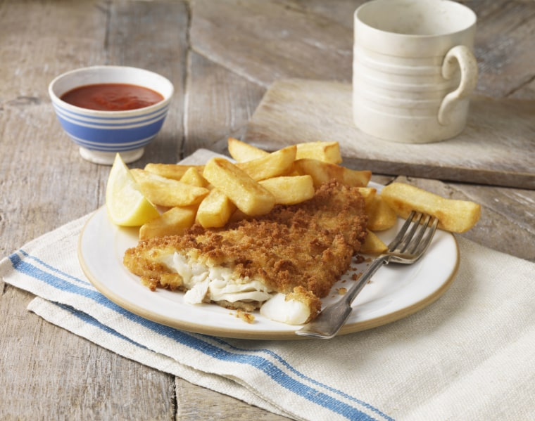 Image: A plate of fish and chips