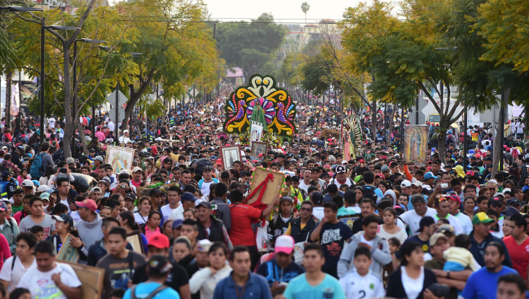 Image: MEXICO-RELIGION-GUADALUPE-VIRGIN