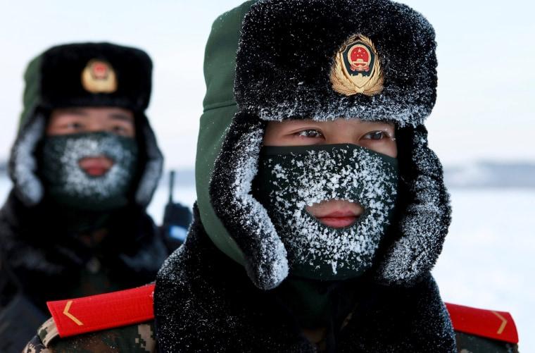 Image: TOPSHOT-CHINA-COLD